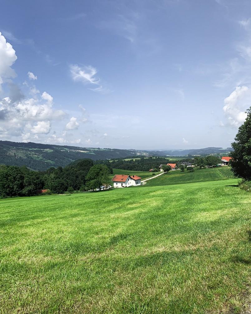 Panoramaaussicht Krottenthal Sonnenweg Untergriesbach