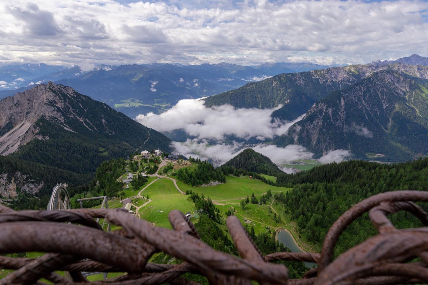 Aussicht vom Gschöllkopf auf das Karwendelgebirge