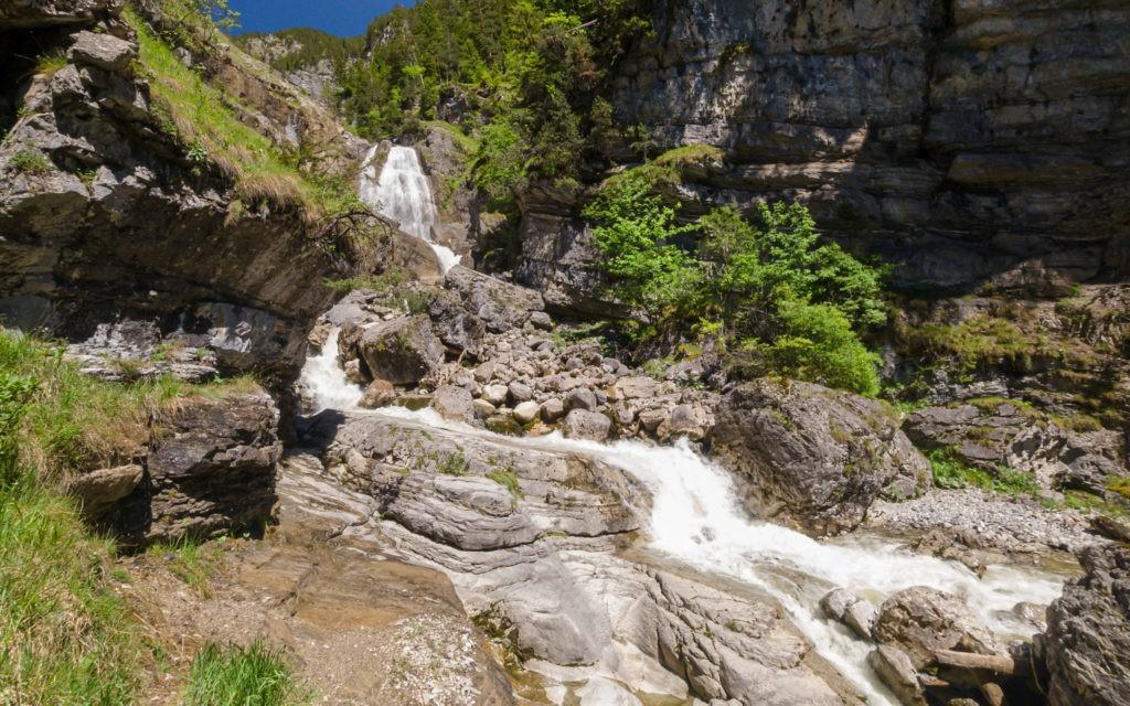 Die Kuhfluchtwasserfälle am obersten Aussichtspunkt