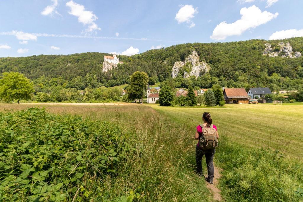 Aussicht auf Burg Prunn