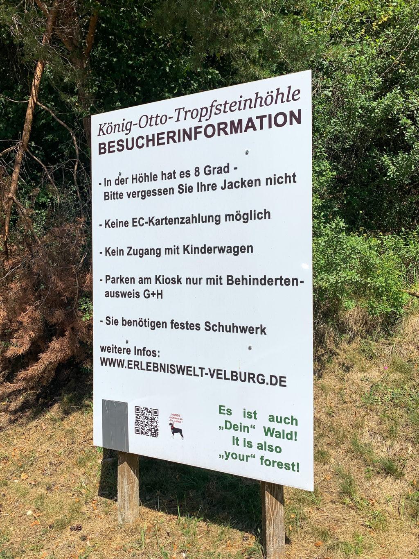 Besucherinformation der König-Otto-Tropfsteinhöhle